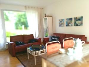 Fewo Nordsee Ferienwohnung Wohnzimmer Einrichtung
